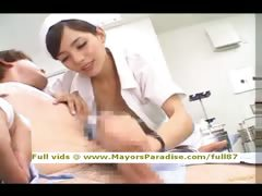Rio innocent Chinese nurse enjoys doing handjob