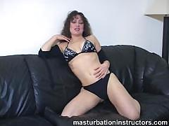 Jerk Off Teacher Won`t Reveal Her Tits And Ass As She Only