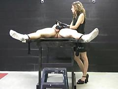 mistress in latex gloves masturbates a naked, tied up dude WWW.ONSEXO.COM