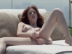 Hot Redhead Opening Vagina Outside