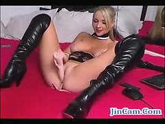 Blonde cam girl squirting free masturbation webcam show