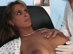 Holly was whining that her giant breasts were sore but the