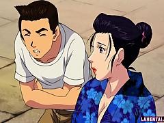 hentai-geisha-gets-gangbanged-and-facialed-outdoors