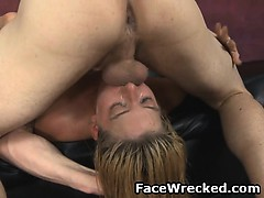 Pretty Amateur With Long Blonde Hair Brutal Face Fucking