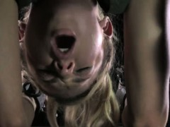 Upside Down Blonde Sub Fingered Hard