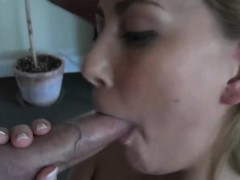 sexy-blonde-gives-man-a-blowjob-on-her-living-room-floor