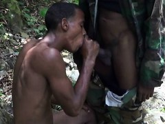 Handsome Soldiers Having Gay Oral Fun