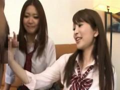 subtitled-cfnm-japanese-schoolgirls-tagteam-fellatio
