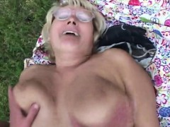 blonde granny gets nailed outside granny sex movies