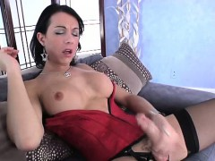 lingerie-shemale-tranny-wanking-her-cock