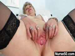 busty-granny-in-uniform-stretching-her-aged-pussy