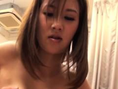 Tiny Busty Japanese Yoga Babe Tittyfucked And Pounded