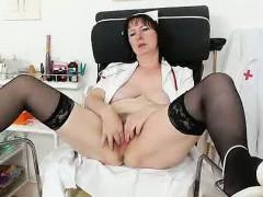 nurse-practitioner-gapes-her-hirsute-cunt