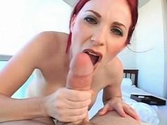 redhead-milf-licks-and-tit-fucks-hard-prick