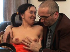 Sweet Chick Offers Her Wild Muff For Teacher's Pleasure