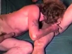 Mature Redneck Cums During Anal