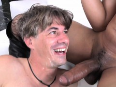 redhead-ebony-shemale-gives-white-guy-a-facial