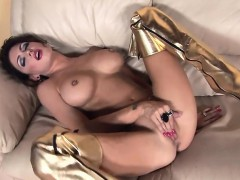 jessica-strips-and-fingers-herself-in-shiny-boots