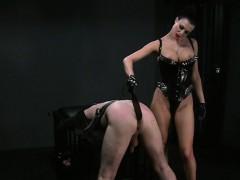 busty-mistress-spanking-dude-in-bdsm-bondage-flogging