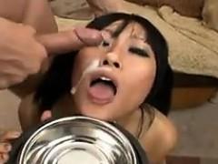 Dirty Asian Girl In An Interracial Gang Bang