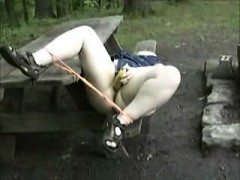 chubby-chick-outdoors-banana-masturbation