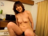 Shiori Kamiya with playful boobs rides dong with hairy hot