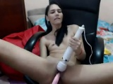 Teen Girl Masturbates With A Wand And Toy