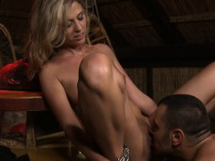 Submissive Blonde Tied and Fucked