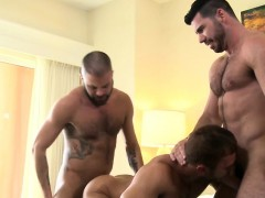 Mature And Buff Bears Assfucking In Threeway