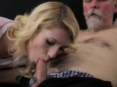 Old Goes Young – Sexy Helena blows old goes young guy