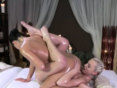 oiled-masseuse-tribbing-blonde-customer