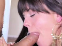 Rahyndee James Gobbles A Huge Cock