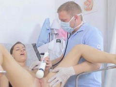 Young Hottie Gets Her Holes Probed By Doctor