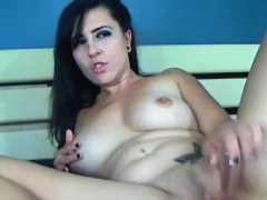 busty-hot-chick-fucked-by-her-huge-dildo-on-cam
