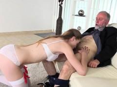 Teen Babe Ilona Sucks Her Senior Citizen Neighbor