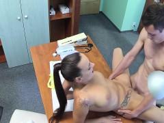 sexy nurse bangs doctor on his desk – سكس اجنبي الممرضة والمريض نيك ساخن