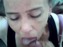 Cheating fledgling mummy deepthroats and facial cumshot