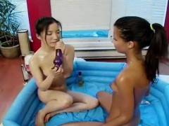 very kinky asian and her friend lesbo fuck