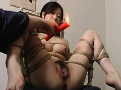 toy nailed tied up and cunt waxed sexy