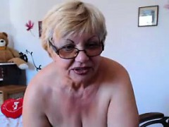 big granny shows off her tits