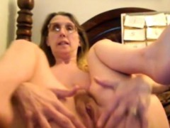 blonde-granny-fingering-hairy-pussy