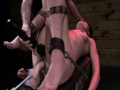 chained-babe-gets-pussy-fisted