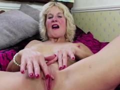 big titted blonde german mature masturbating