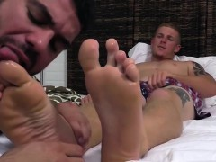 Hot And Horny Ricky Larkin Worships Conrad Feet While In Bed