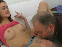 Beautiful young playgirl gets seduced by a old fucker