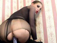 pantyhose-dildo-riding