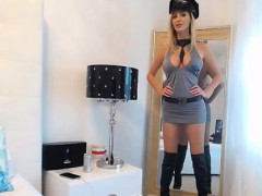 bigtits in cops unifrom in webcam chat