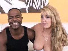 busty blond rides big and hard black penis