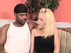 Black stud rides fit white blonde amateur pussy