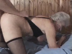 granny loves cum and doggy style fucking